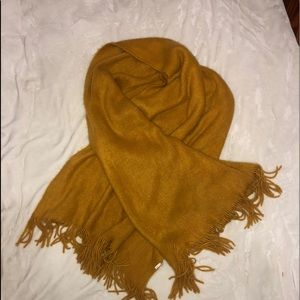 Beautiful oversized mustard scarf